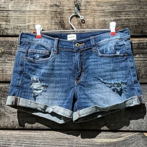 SneakPeek MidRise Factory Distressed Cuffed Short